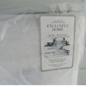 Exclusive Home Accents - Exclusive Home 2 Sheer Window Curtains 45 x 84